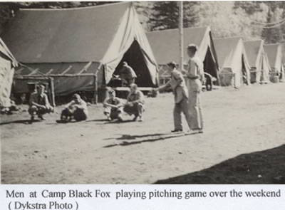 playing pitch at CCC Camp Black Fox