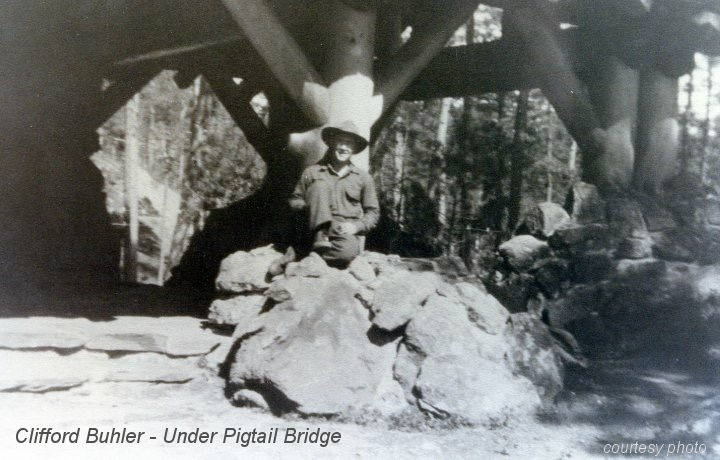 Clifford Buhler under pigtail bridge