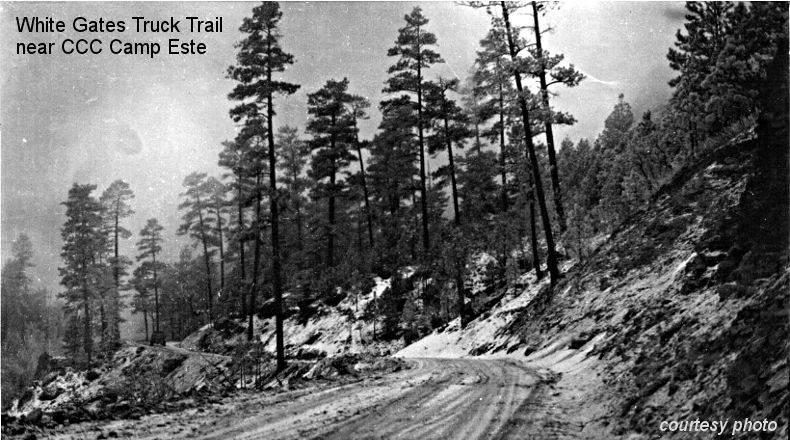 Truck Trail near CCC Camp Este