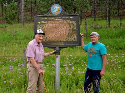 Jay Hendrickson and Kerry Conner Tigerville Historical Marker