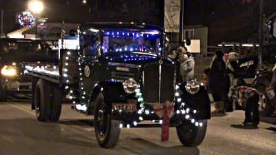 Goens CCC truck in Christmas parade