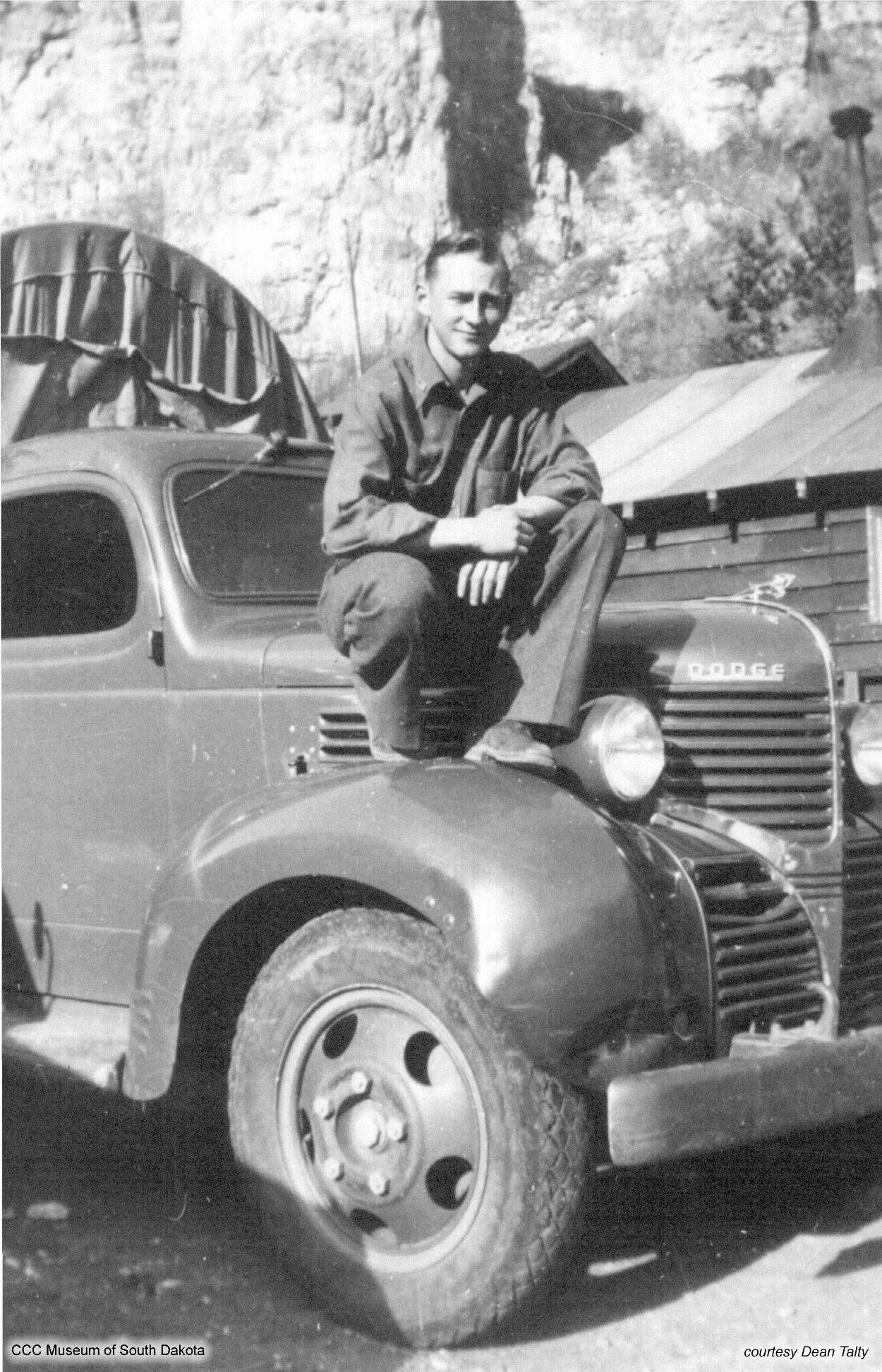 Duane Anderson on Truck