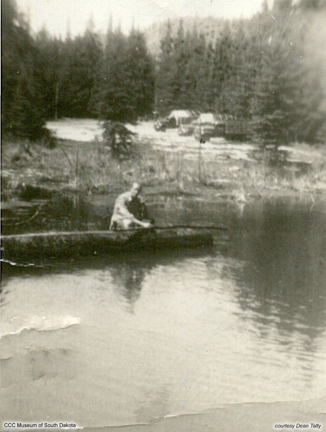 Fishing Near CCC Camp
