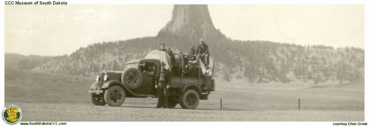 Men at Devils Tower
