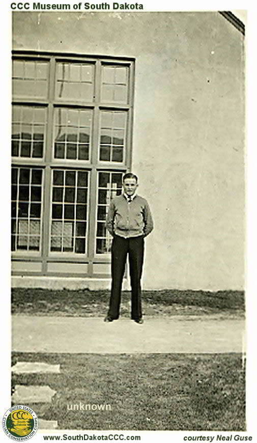 Unknow Man in front of Building