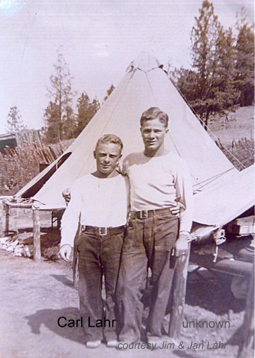 Carl 'Shorty' Lahr with unknown man