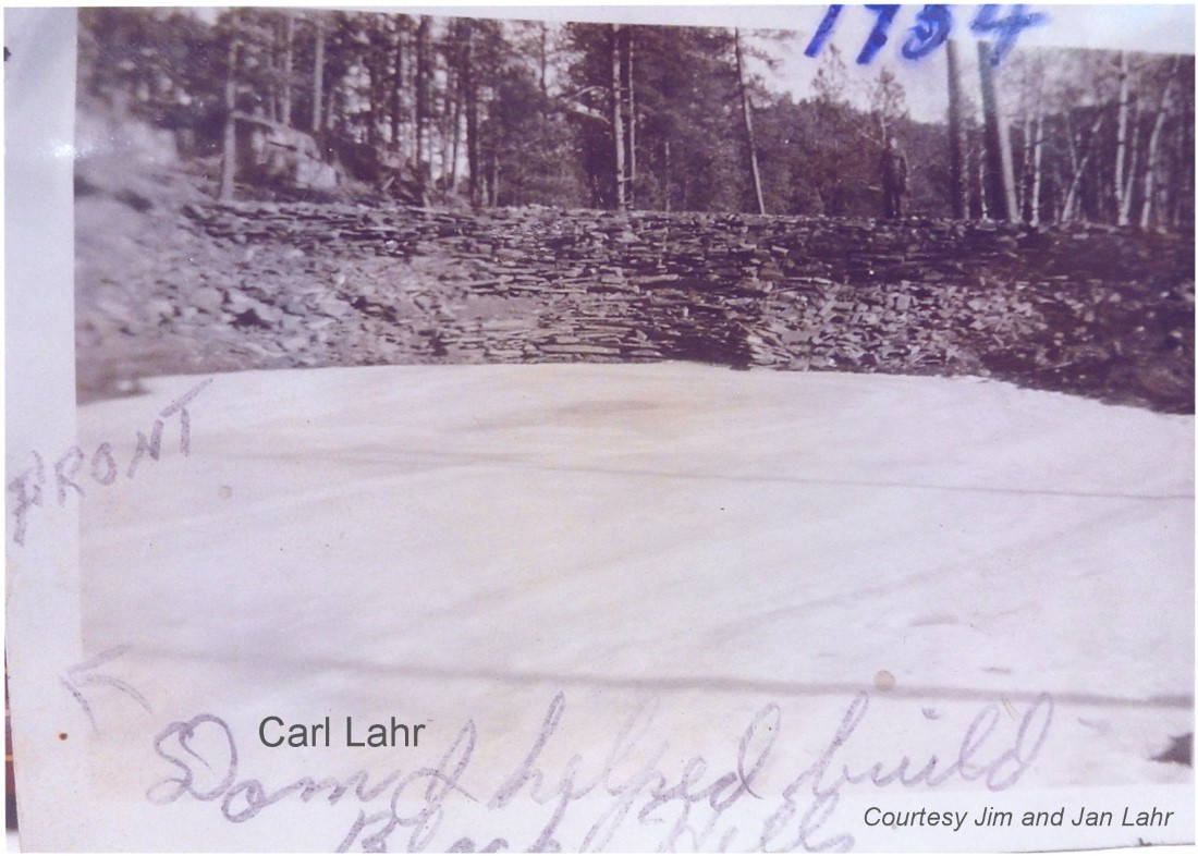 Carl 'Shorty' Lahr dam construction